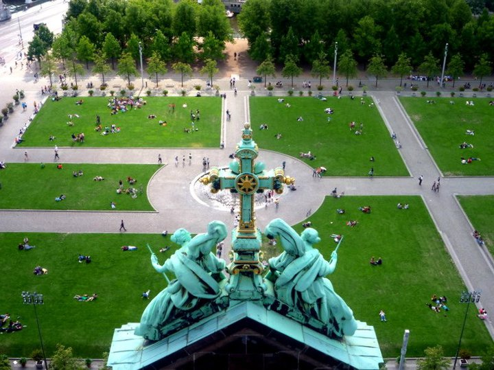 A vista da cúpula da Catedral. Foto: Gabriela Mendes