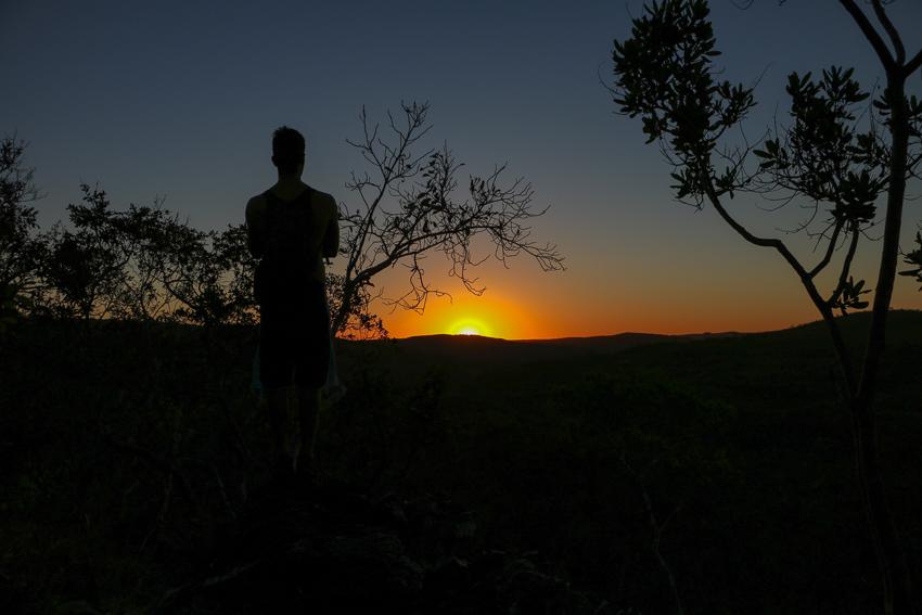 Pôr do sol nos Couros, Chapada dos Veadeiros